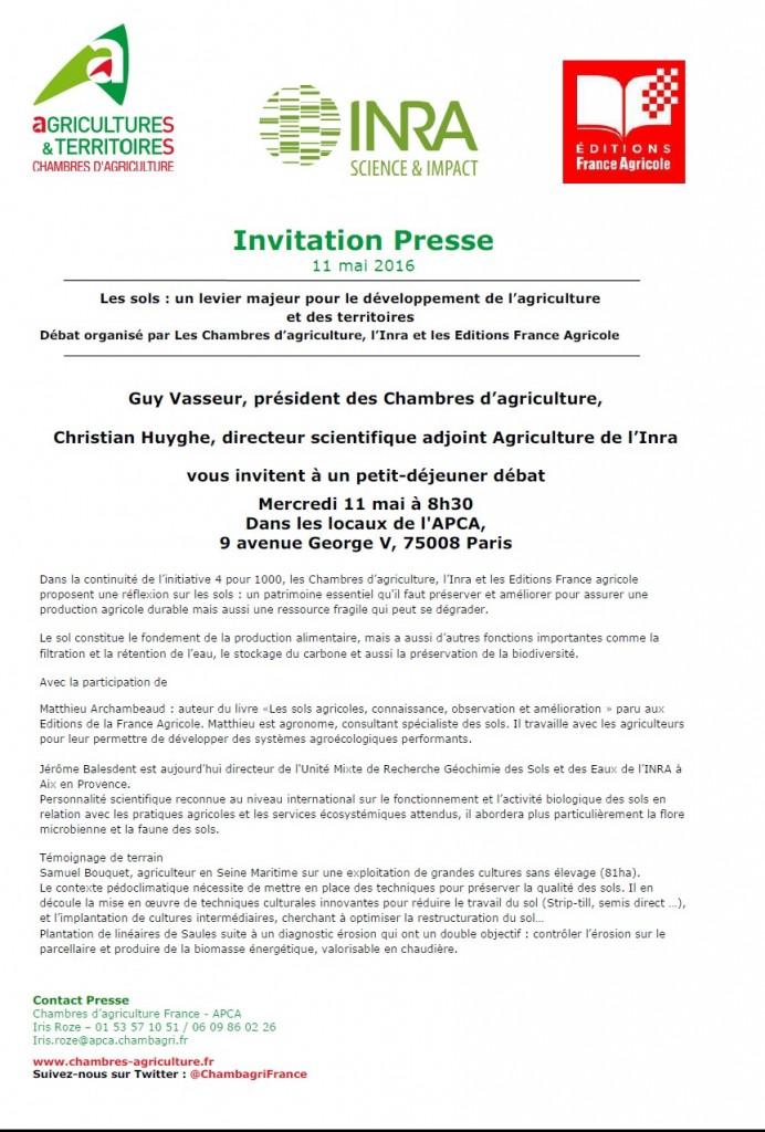 Invitation presse Débat APCA-INRA